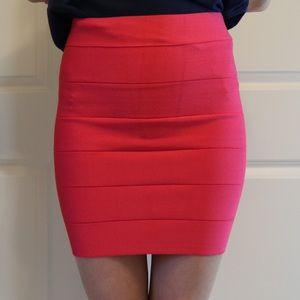 Bandage solid skirt